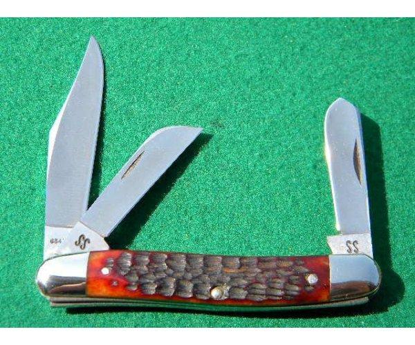Case XX Stainless USA 1965-69 Bone 6347 HP SSP 3 Blade Stockman Knife