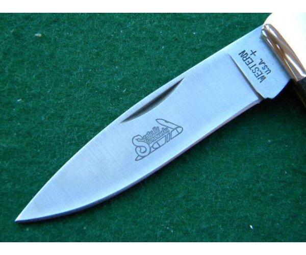 Western USA Santa Fe Stoneworks Lockback Knife - Mint
