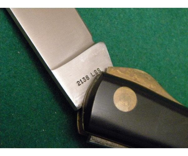 Scarce Case XX Stainless USA 4 Dot (1976) Black 2138 L SS Linerlock Sod Buster Knife