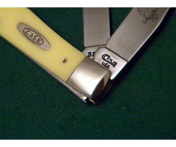 Case XX USA 1997 Yellow 3254 CV Trapper Knife - John Wayne the