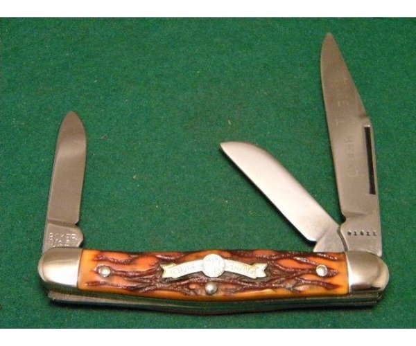 Boker USA Tree Brand 1976 Olde Stag 70488 Delrin Stockman Knife - NIB