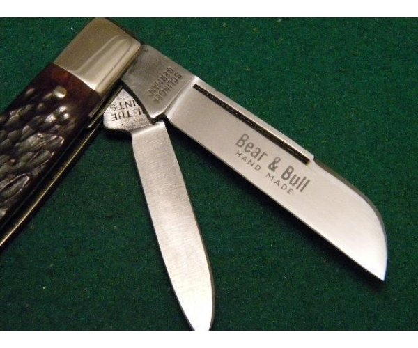Bear & Bull Hand Made Solingen Germany Bone Congress Knife