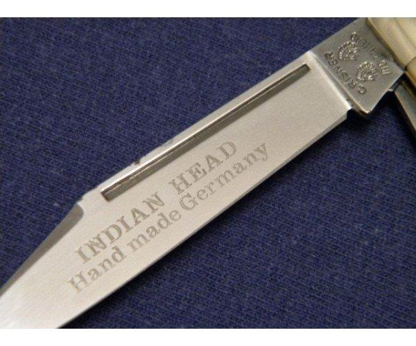 C. Risner Indian Head Solingen Germany Stag Stockman Knife