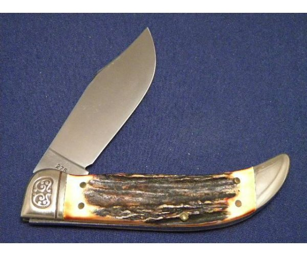 Schrade USA 1980 NKCA Museum Founders Stag Clasp Knife