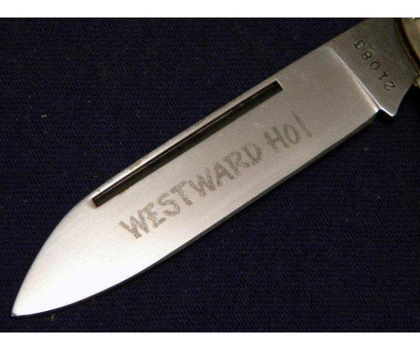 Boker USA Great American Story No. 1773 Prairie Schooner Delrin Large Equal End Jack Knife