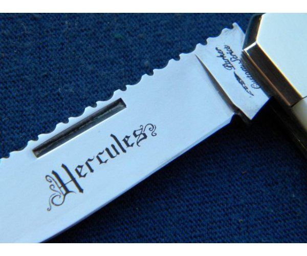 Parker Custom Series Japan Pearl Hercules Knife *Fileworked*