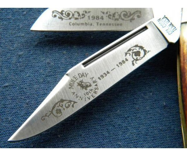 Col. Coon Tenn. USA Colonel Coon Stag 1984 Mule Day 50th Anniversary Stockman Knife - NIB