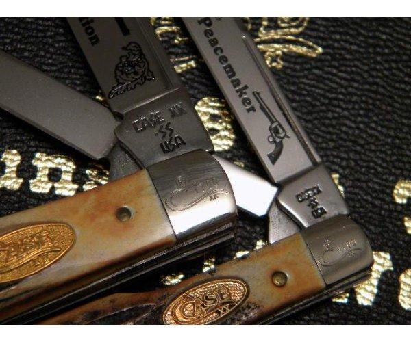 Case XX SS USA 1989 Stag 5215 & 5230 Gunstock Knife Set