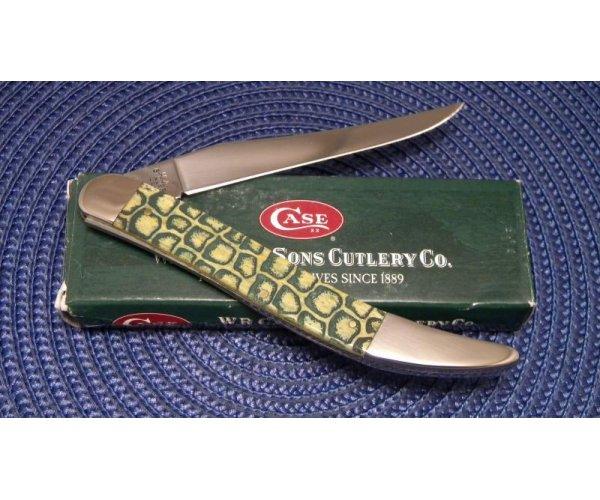 Case XX USA 2007 Olive Green Bone 610098 SS Gator Back Large Toothpick Knife - NIB