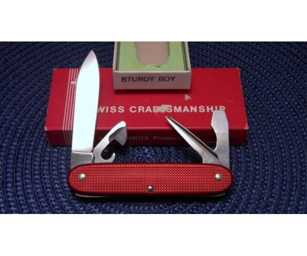 Victorinox Switzerland Stainless Rostfrei Red Alox Sturdy Boy