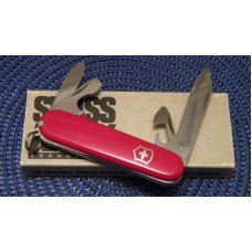 Victorinox Switzerland Stainless Rostfrei Red Recruit Officier Suisse Swiss Army Knife - NIB