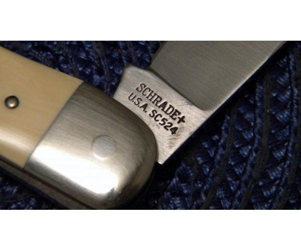 Schrade + USA SC524 Color Scrimshawed Small Folding Hunter 3 Knife Set