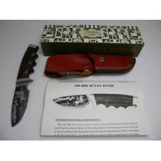 Gerber USA 1974 Shaw Leibowitz Silver Etch The Ride of Paul Revere Commemorative Sheath Knife