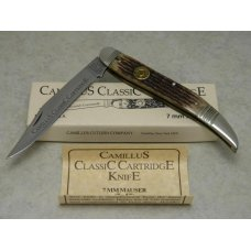 Camillus NY USA CCC-3 Bone Classic Cartridge Bone 7 mm MAUSER Toothpick Knife in Box