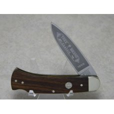 Boker Solingen Germany Stainless Tree Brand Classic Wood 1000 Lockback Knife c1978-1984