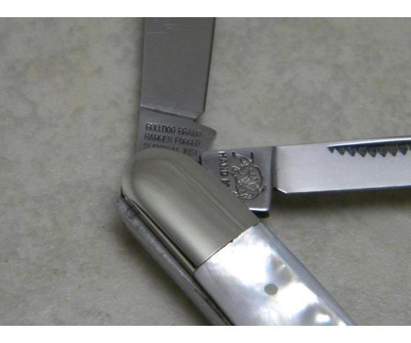 Bulldog Brand Solingen Germany Genuine Pearl 4 Blade Congress Knife