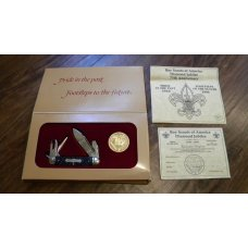 New York Knife Co USA Schrade Diamond Jubilee 75th Anniversary 1910-1985 Boy Scout Knife in Box