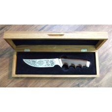 Gerber Portland, OR USA Wood Model 525 Harley Davidson Commemorative Fixed Blade Knife in Box c.1981