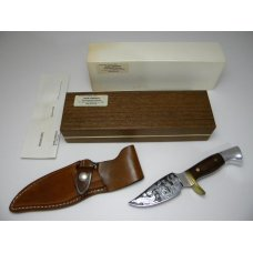 Westmark USA 703 Shaw Leibowitz Silver Etch Patrick Henry Fixed Blade Sheath Knife in Box