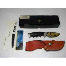 Gerber USA Shaw Leibowitz Gold Etch Valley Forge Ebony Wood Fixed Blade Sheath Knife in Box