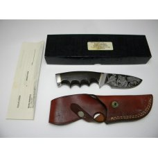 Gerber USA Shaw Leibowitz Silver Etch Valley Forge Ebony Wood Fixed Blade Sheath Knife in Box