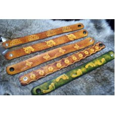 Handmade Leather Wrist Bands