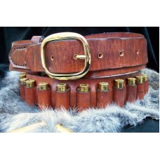 Handmade Leather Cartridge/Ammo Belt Made To Fit USA Made