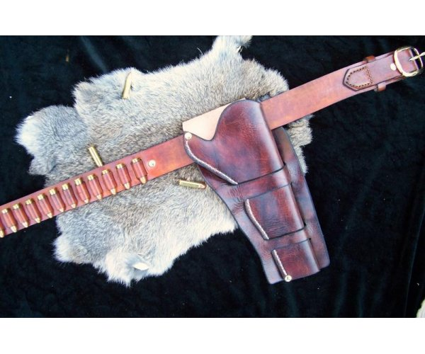 Handmade Double Cheyenne Style Holster & Cartridge Belt Rig - See Gun List Below