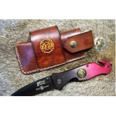 Handmade Leather Pocket Knife Case Sidewinder Large # 17588