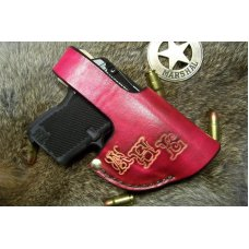 Handmade Leather Holster For A Keltec or Ruger With Pocket Clip , See Gun List Below