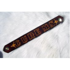 Handmade Leather MS Cure Support Wrist Band # 17850