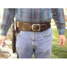 Lined Leather Holster & Cartridge Belt  Rig Like In the Movie