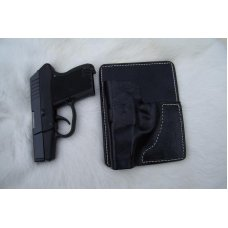 Custom Leather Wallet / Pocket Holster - P3AT, LCP, P238, See Gun List Below