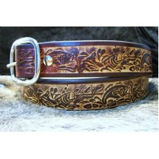 Handmade Leather Belt Bass Fishing Tooling- Made in the USA