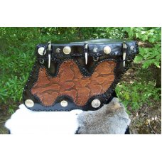 Custom Leather Motorcycle Saddle Bags - Python Skin Outlay & More