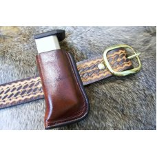 Custom Leather Magazine Pouch With Belt Clip