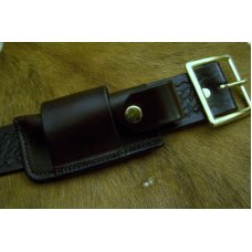 Leather Sidewinder Knife Pouch Fits Pocket Knives Up To 4-1/8