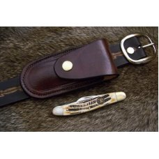 Leather Sidewinder Knife Pouch Fits Pocket Knives Up To 4