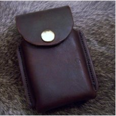 Handmade Custom Leather Cell Phone Case- Brown Oil Stain - Fits iphone & Droid