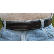 Custom Leather Belt - Buckleless Velcro Closure – Mechanics / Law Enforcement