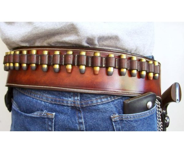 Custom Leather Holster & Cartridge Belt  Rig - Custom Tooling - See Gun List Below