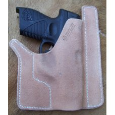 Custom Leather Front Pocket Holster - Keltec P3AT,Ruger LCP,& Sig Sauer P238, See Gun List Below