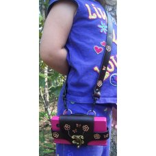Custom Leather Nintendo DSI Case - Belt Clip and Arm Strap - Flower / Butterfly Tooling