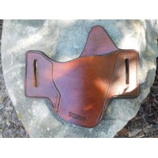 Leather Gun Holster For Semi Autos - Pancake-  Browning Buckmark or S&W 22A-1 - See Gun List Below