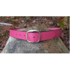 Handmade Leather Belt - Pink