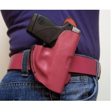 Leather Holster Outside Waist Band (OWB) - Pink - ,Keltec,LCP, P238, See Gun List Below