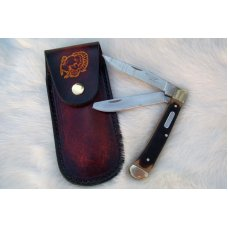 Custom Leather Pocket Knife Case Large - Up to 4-1/2