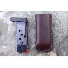 Custom Leather Magazine Pouch With Belt Clip -Taurus PT738,TCP,Keltec,Ruger LCP,& Sig Sauer P238