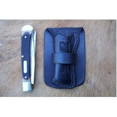 Custom Leather Pocket Knife Case Small Upright - Up to 4
