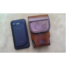 Custom Leather Cell Phone Case- Brown Oil Stain - Heavy Duty Magnetic Closure - Fits iphone & Droid